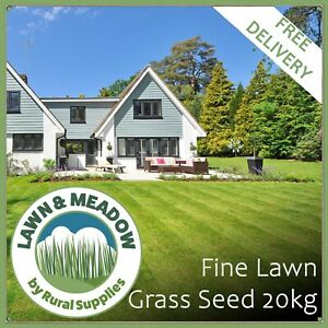 20KG Luxury Lawn Grass Seed - PREMIUM QUALITY FOR FINE FRONT GARDEN LAWNS 500 m2