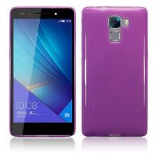 Original Huawei Honor 7 Case Genuine Flexible Soft Gel TPU Rugged  Purple