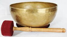 E671 Throat 'G#' Chakra Healing Hand Hammered Tibetan Singing Bowl 10.25""
