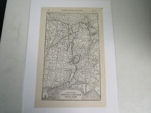 Original Vintage Map of the Louisville & Nashville Railroad System 1917