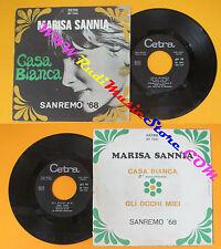 LP 45 7'' MARISA SANNIA Casa bianca Gli occhi miei 1968 italy CETRA no cd mc*dvd