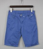 Humor 8 111 467 Slim Uomo 'S Medio Zip Fly Blu Cotone Classico Shorts JS16260
