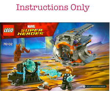 LEGO Instructions ONLY from set 76102 Thor's Weapon Quest Marvel Super Hero NEW