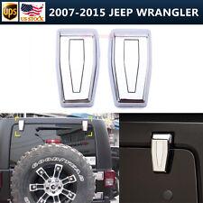 2pcs Rear Liftgate Window Hinge Covers Triple Chrome For 07-16 Jeep Wrangler JK