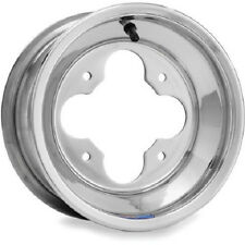 "DWT Polished A5 Rolled Lip Front Wheel 10"" 10x5 3+2 4/156 Yamaha YFZ450 Banshee"