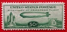 1933 US Airmail #C18 50c Century of Progress Issue Mint LH Well Center