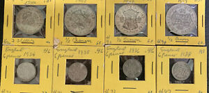 England 1939, 1942 1/2 Crowns, 2 Shillings & 6 P Collection  Nice & *No Reserve!