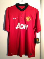 Impecable Manchester United 2013-14 Home Kit _ xl _ ss _ réplica _ BNWT