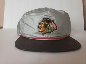 Mitchell & Ness Chicago Blackhawk's Tyvek 2 Tone Snapback Adjustable Cap Hat