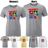 Disney Mickey Mouse Donald Goofy Couples T-shirt Men's Women's Grphic Tee Tops