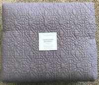Restoration Hardware Heirloom Bedding King Size Cotton Quilt Orchid Light Purple
