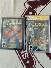 Marvel Comics Transformers #1 and #36, the holy grail, only signed cgc ever!