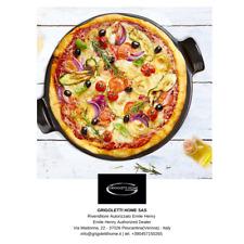 Pizza Stone Fondo Liscio - Nero - ø cm 43 - Emile Henry - Rivenditore