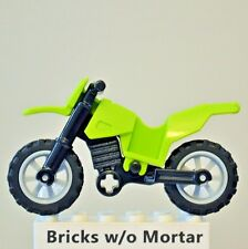 New Genuine LEGO Lime Green Motorcycle Dirt Bike World Racers 8896