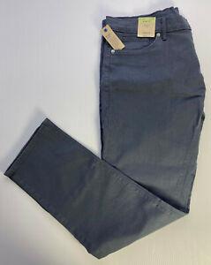 "M&S Mens SLIM FIT STRETCH Denim Jeans GREY BLUE W38"" L33"" Long RRP £22.5"