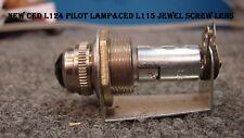 NEW CED L124 PILOT LAMP&CED L115 JEWEL SCREW LENS(RED)