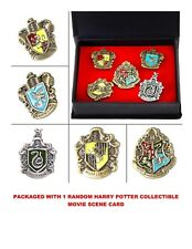 Harry Potter 5 Pins Hogwarts House, Gryffindor, Ravenclaw, Huffelpuff,S RELISTED