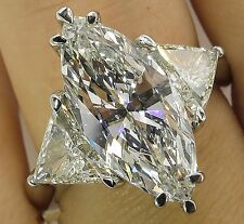 Fashion Women 925 Silver Marquise Cut White Topaz Gem Ring Engagement Jewelry