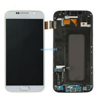 Pour Samsung Galaxy S6 G920F Complet LCD écran Verre Tactile+Cadre Blanc+Outils