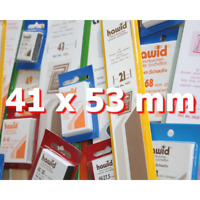 Pochettes Hawid simple soudure 41 x 53 mm pour timbres type Tableau vertical.