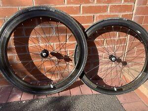 Carbon Tubular Rim Brake Wheelset Novatec Hubs Deep 50mm