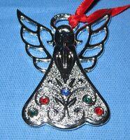 a Metal Lenox Christmas Tree Ornament ~ a small Jeweled Angel