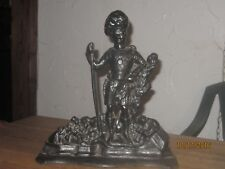 Vintage Antique Scottish Cast Iron Highland Guard Large Doorstop