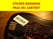STICKER BASSMAN PAUL McCARTNEY HÖFNE VISIT MY STORE FOR DECORATION GUITARS