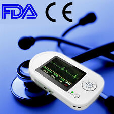 Handheld Electronic Stethoscope Pulse Heart Rate Monitor Clinic Home Use ECG EKG