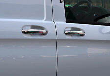 Pour s'adapter mercedes benz vito W447 2014+: chrome poignée de porte trim set covers s. steel