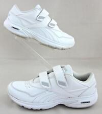 04567714da9 Reebok DMX-MAX Comfort Deluxe Shoes Hook-N-Loop White Leather Sz 8.5