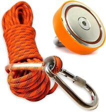 Super Strong Deluxe Magnet Fishing Kit 880LB & Rope Over 2000 LB Strong   Magnet