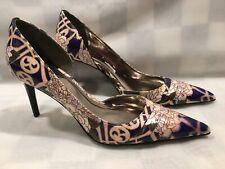 CARLOS SANTANA Elite Purple Floral Pumps High Heels Women's Shoe Size 6.5 M