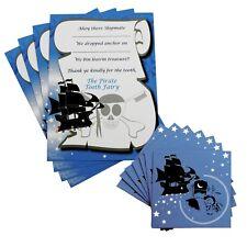 Pirate Tooth Fairy Gift Set ~ 8 Envelopes 4 Certificates ~ Children Reward Teeth
