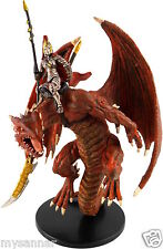 D&D Mini RED DRAGONKIN RIDER Pathfinder ROW Dungeons & Dragons Miniature