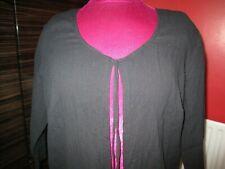 Evans Black Long Cotton Cardigan Size 22 BNWT