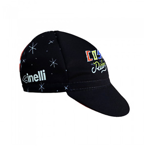 NEW Cinelli Sergio Mora Cosmic Riders Cycling Cap - Road Urban Fixie Black