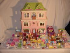 FISHER PRICE LOVING FAMILY FOLD OUT GRAND DOLLHOUSE HOUSE + 50 ACCESSORIES