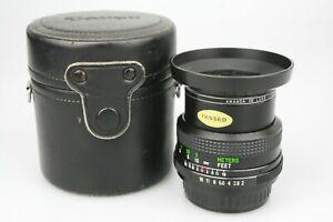 Fast VIVITAR 28mm f2 f/2 LENS in Pentax PK Mount, clean, in Canon Lens Case