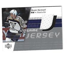 Scott Hartnell, 2002-03 Upper Deck Game Jersey Card, # GJ-SH, Nashville