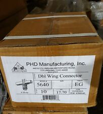 PHD MFG DOUBLE WING CONNECTOR 8 HOLE 5640, EG FINISH (10PC CASE)