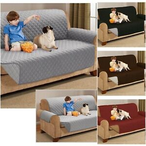 Waterproof Reversible 1/2/3 Seater Pet Cat Dog Sofa Couch Cover Protector Throw