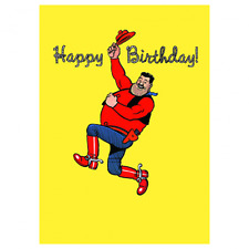 BEANO GREETING CARD: DESPERATE DAN HAPPY BIRTHDAY - NEW IN CELLO