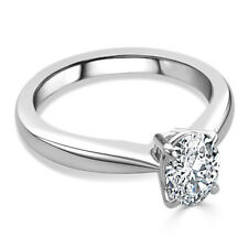 2.00 Ct Oval Diamond Engagement Ring Fine 14K White Gold Rings Size N O M P