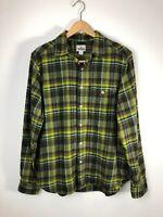 Woolrich Green Plaid  Flannel Shirt Men's Large