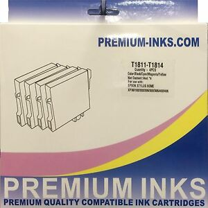 Set Epson Printer Ink Cartridges Expression Home XP405 WH XP312 XP412 Non OEM