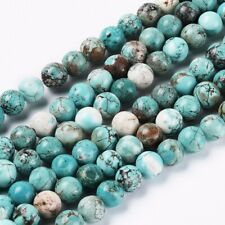 20 Natural Turquoise Gemstone Beads 8mm Natural Jewelry Making Supplies Blue