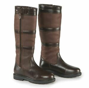Shires Moretta Bella Zipped Leather Country/Yard Boots Waterproof All Calf Sizes