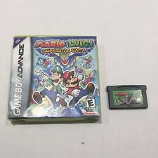 Mario & Luigi: Superstar Saga (Nintendo Game Boy Advance, 2003) Cartridg and Box