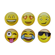 6 x Emoji Mask - Smiley Face Icon Party Photo Booth Emoticon Fancy Dress Mask